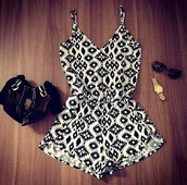 dress,playsuite,thinstrap,pattern,romper,jumpsuit,dungaree,thecarriediaries,carrie