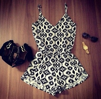 dress playsuite thinstrap pattern romper jumpsuit dungaree thecarriediaries carrie