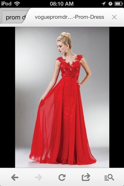 dress red long prom dress
