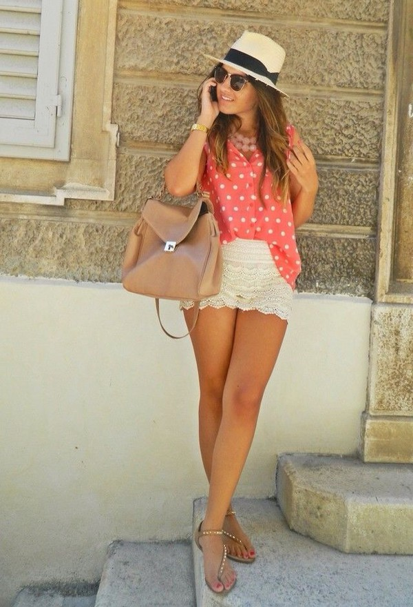 mini shorts white shorts white hat sun summer outfits summer shorts bag sunglasses shoes shorts tank top hat