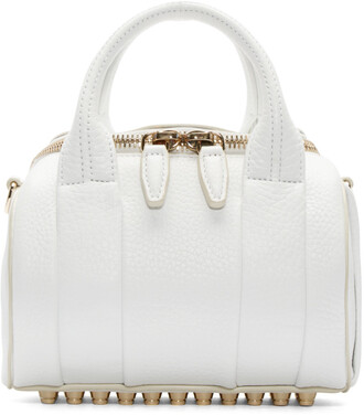 bag mini bag white white bag white duffle bag duffle bag handbag alexander wang