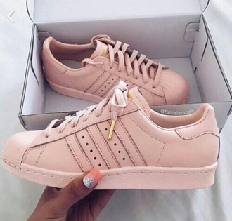 shoes adidas rose gold sneakers pink sneakers