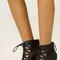 Caged heel shooties - black