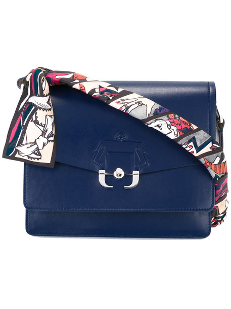 PAULA CADEMARTORI women bag shoulder bag leather blue