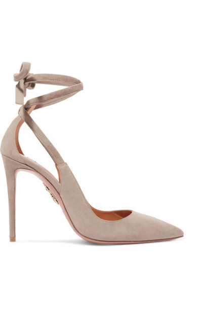 Aquazzura suede pumps light pumps suede shoes