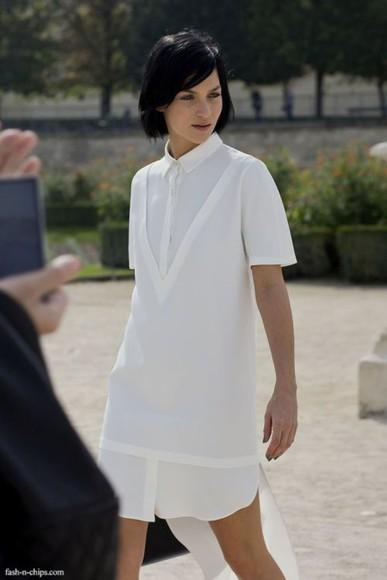 simple white dress atropina