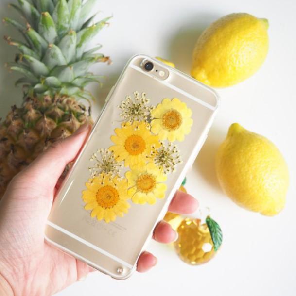 Phone cover summer summer handcraft pinapples yellow flowers like follow mightylinksfo