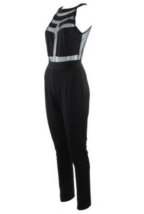 Splicing halter jumpsuit