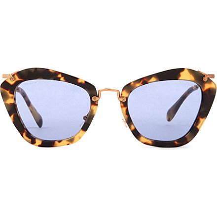 MIU MIU - Havana cat-eye sunglasses MU10NS   Selfridges.com