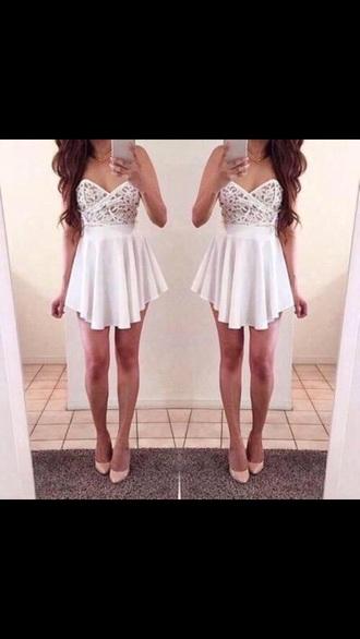 dress white dress short short dress sexy sexy dress lace lace dress flowy hot gorgeous gorgeous dress homecoming dress homecoming