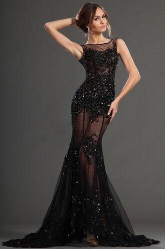 dress lace dress prom dress black prom dress prom little black dress lace gown ball gown prom gown