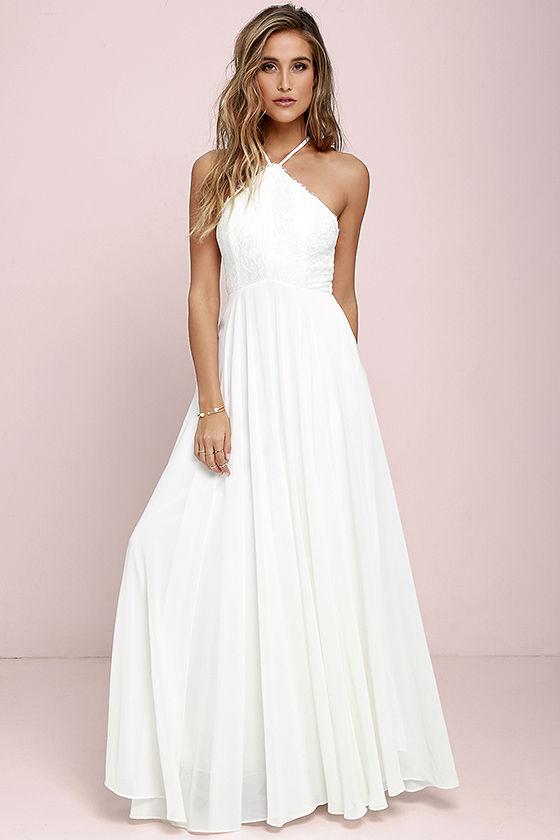 Everlasting Enchantment Ivory Maxi Dress