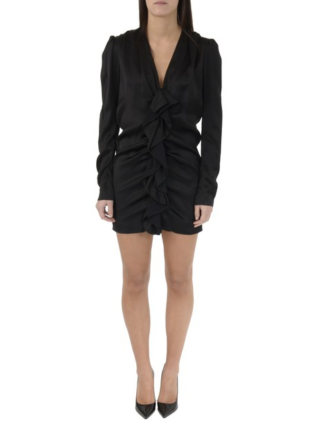Saint Laurent dress mini dress mini black satin