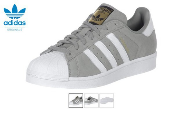 adidas superstar womans in gray