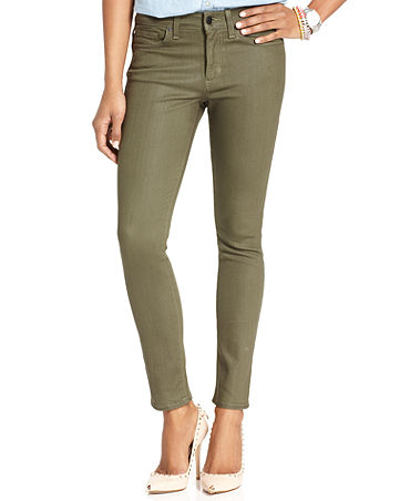 Else Jeans Skinny Jeans, Green-Wash - Jeans - Women - Macy's