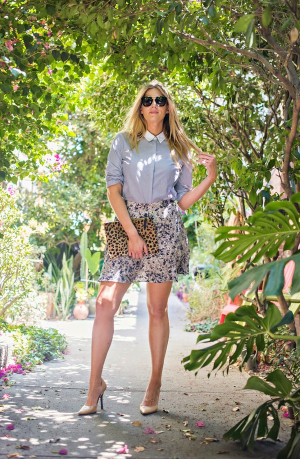 devon rachel blogger top skirt shoes sunglasses bag