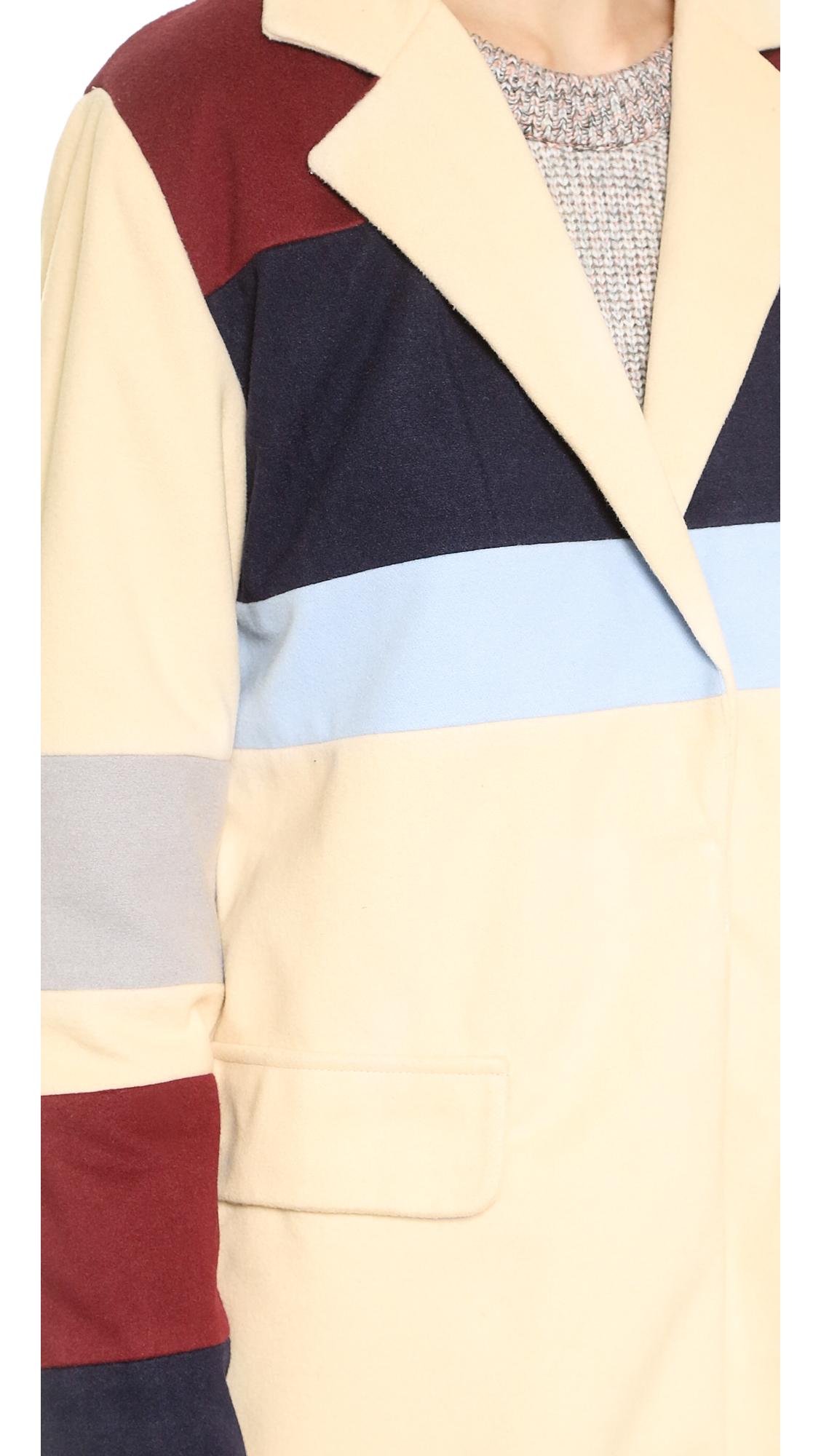 Endless rose colorblock coat
