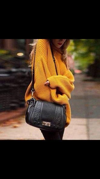 bag purse crossbody bag leather bag black black bags black bag sweater