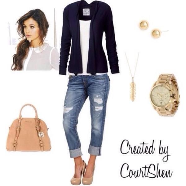 jeans jacket bag jewels