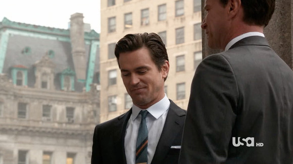 white collar hat tie matt bomer