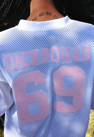 t-shirt dick squad 69 dick squad 69 pink jersey white numbers