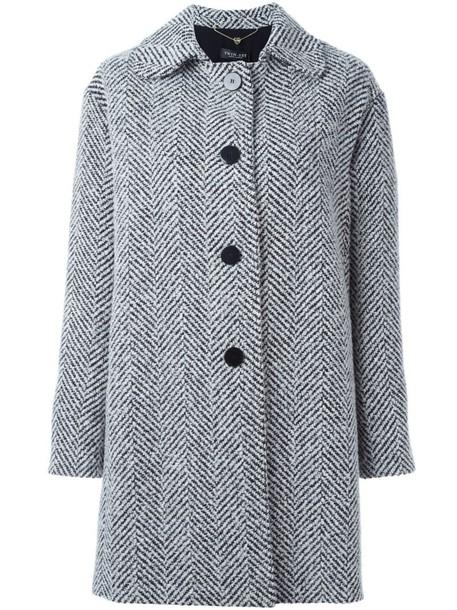Twin-Set coat women white wool pattern