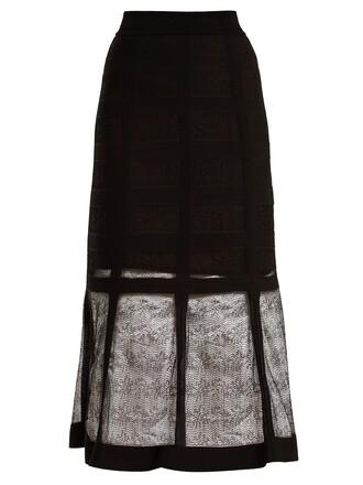 skirt midi skirt midi knit black