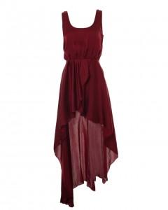 LOVE Aubergine Asymmetrical Maxi Dress - Love