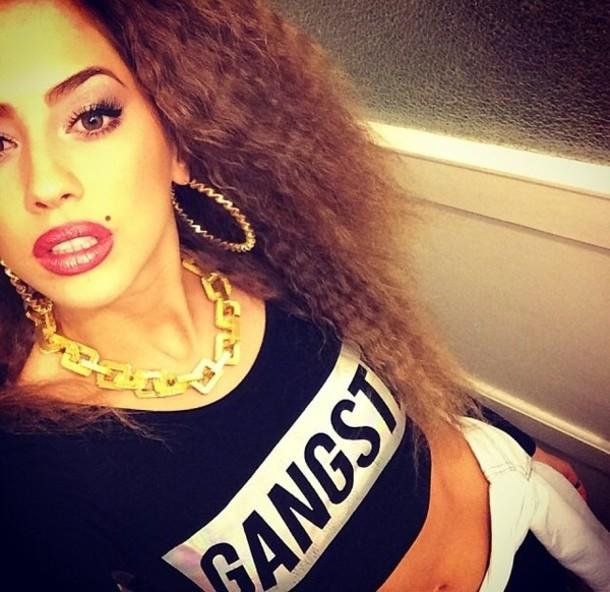 shirt t-shirt women t shirts gangsta 90s style