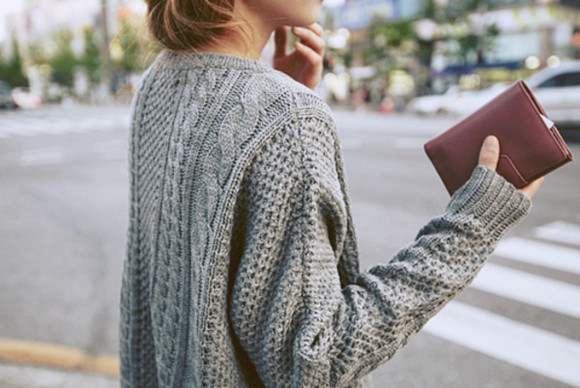 sweater grey sweater winter sweater knitted sweater pretty long sweater beautiful cosy grey street sweet cute style blogger city