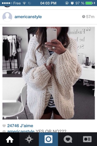 jacket white laine cosy oversized oversized jacket cream color