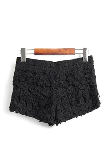 Exquisite Black Lace Shorts [FJCE0059]- US$ 27.99 - PersunMall.com