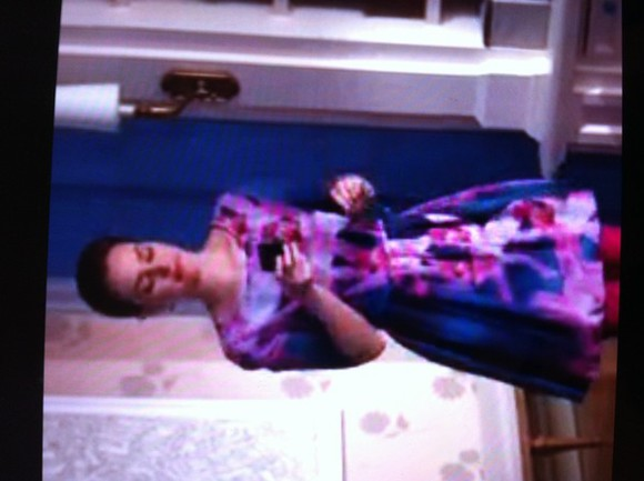 gossip girl blair blair waldorf leighton meester dress pink blue cute beautiful beautiful dress