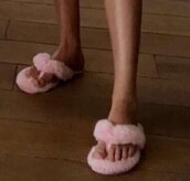 shoes,pink fluffy flip flops,pink furry flip flops,pink sandals,pink furry sandals,pink fluffy sandals,pink furry fluffy sandals,fluffy flip flops,pink,pink flip flops