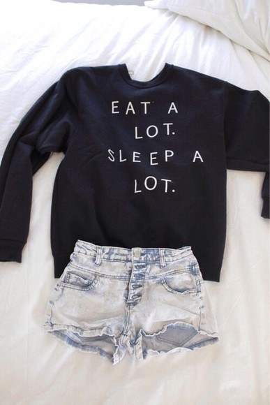 quote on it black sweater text
