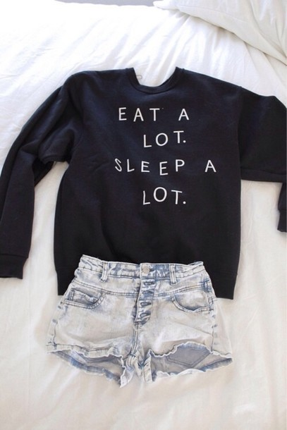 sweater black quote on it quote on it top graphic sweater shirt eat sleep hipster cute jumper shorts a lot eat sleep wear sleeping alott blouse black sweater eat a lot sleep a lot eat alot sleep alot writing quote on it winter sweater oversized sweater white sweatshirt navy crewneck lazy day sweater gray hoodie white letters and perfection High waisted shorts jumper black jumper sweater black and white sweatshirt denim funny eat sleep trendy cute sweaters jacket soft grunge pastel goth eat a lot sleep a lot crewneck warm help me find this shirt plz! eat a lot sleep a lot High waisted shorts t-shirt tumblr quote on it freshtops sweater weather teenagers teenagers cool girl style cool 90s style grunge print crewneck sweater hipsyer sweater weather eat a lot. sleep a lot. money or nah fall outfits fall outfits seasons me ong t-shirt denim shorts clothes back long sleeves food lazy day outfit pullover fashion dark navy/black small oversized tumblr sweater girl prom dress messy more wedding dress life wedding dress girly life's a beach lovely pepa cute things black and white tumblr outfit tumblr shirt sweter sweater lot tendy fashion style eat.sleep.read graphic tee quote on it pale peri.marie need this ! bag black top jeans earphones skirt black        teestarsusa black sweater print winter outfits sweater with saying dark blue short summer nice funny funny sweater in the uk please cute outfits navy blue sweater summer outfits