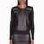 helmut lang black reptile leather_paneled motion sweatshirt