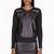 helmut lang black reptile leather_paneled motion sweatshirt
