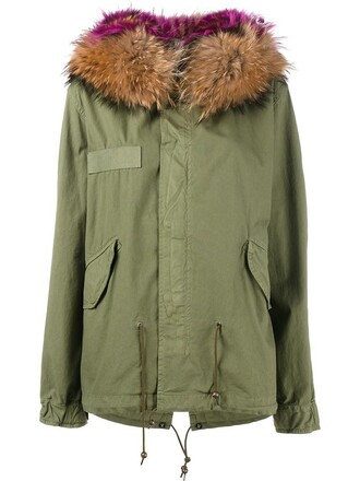 parka fur women cotton green coat
