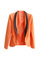Colour montage fitted pockets orange blazer [ncsuz0053]