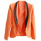 Mixed-colour montage fitted pockets orange blazer [ncsuz0053] - $49.99 :