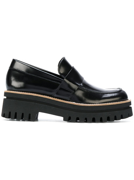 PALOMA BARCELÒ women loafers leather black shoes