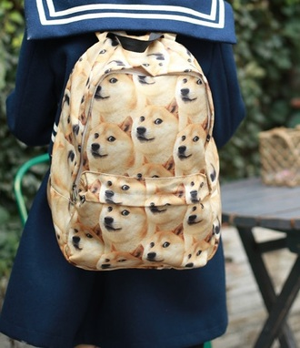 bag dog backpack doge