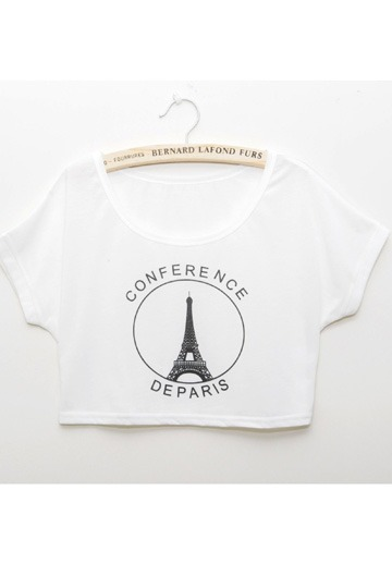 Eiffel Tower Short T-shirt [FCBI00166]- US$14.99 - PersunMall.com