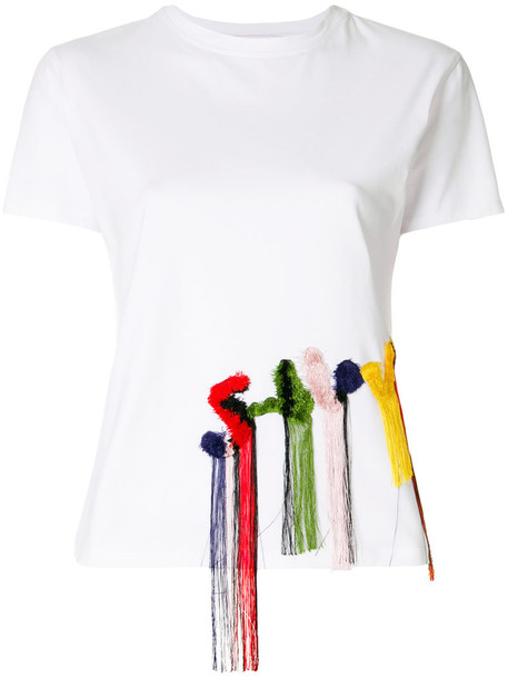 t-shirt shirt t-shirt women spandex white cotton top