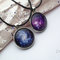 Galaxy necklace solar system necklace blue purple galaxy pendant space jewelry planet necklace cosmic necklace galaxy jewelry space gift