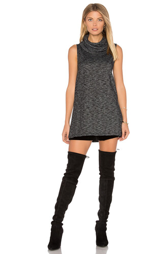 tunic knit charcoal top