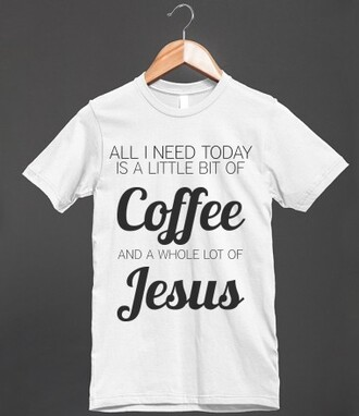 t-shirt coffee jesus god christ church christianity cross starbucks coffee funny cute shirt gift ideas
