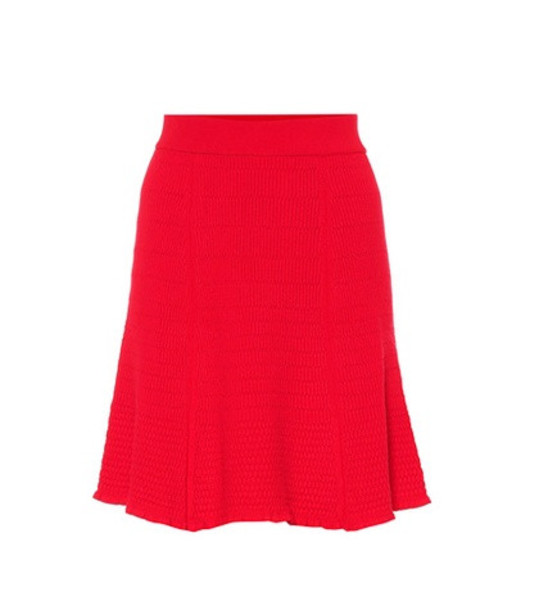 Kenzo Knitted miniskirt in red