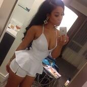 jumpsuit,white,peplum,shorts,white peplum jumpsuit,peplum jumpsuit,white jumpsuit,summer outfits,dress